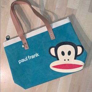 PAUL FRANK Canvas zippered tote-waterproof lining